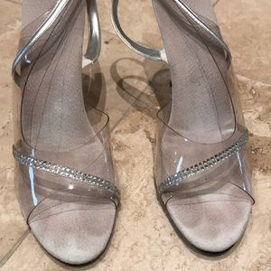Clear with Rhinestones Heels
